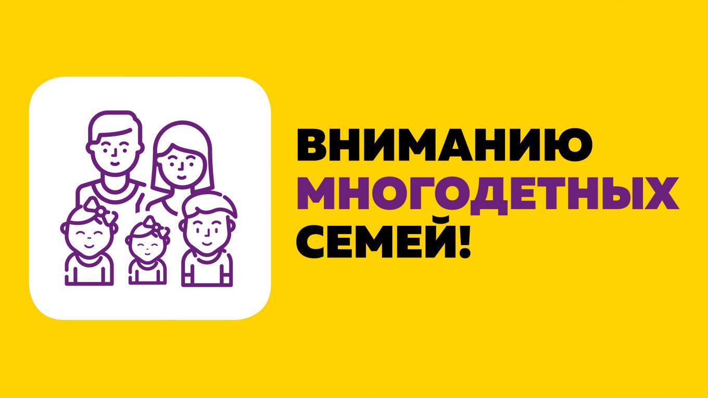 Многодетные семьи получат ещё 1,5 млрд рублей